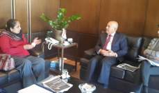محمد حسن صالح استقبل سفيرة سيريلانكا الجديدة