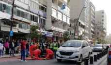 النشرة: جريحة في حادث صدم في شارع رياض الصلح في صيدا