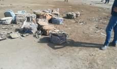 النشرة:ضبط كميات جديدة من الحشيشة بشاحنتي خردة قرب مستديرة مرجان بصيدا