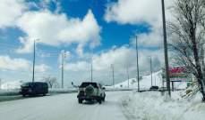 التحكم المروري للنشرة: الطرقات الجبلية مقطوعة باستثناء ضهر البيدر