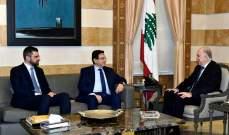 وزير الداخلية استقبل سفير والخازن وفرنجية