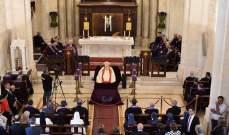 المطران مطر وكهنة أبرشية بيروت احتفلوا بقداس المرافقة للبطريرك صفير