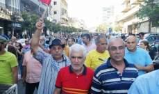 حراكا النبطية وكفررمان نظما مسيرة شعبية تنديدا بالأوضاع الاقتصادية والمعيشية