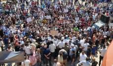 أهالي المنية اعتصموا أمام معمل دير عمار للمطالبة بالتغذية 20 ساعة يوميا