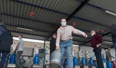 النشرة: مراكز تعبئة الغاز في صيدا تشهد ازدحاماً