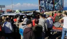 11 جريحا في حادث سير على أوتوستراد البالما