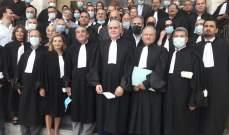 محامو النبطية نفذواوقفة احتجاجية داخل قصر العدل بالمنطقة