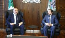 بو صعب بحث مع كرامي الاوضاع العامة في البلاد وبالاخص في مدينة طرابلس