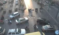 قطع السير على تقاطع عبد الناصر في كورنيش المزرعة
