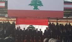 إنتهاء العرض العسكري المركزي بمناسبة عيد الاستقلال وسط بيروت