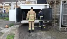 الدفاع المدني: إخماد حريق مولد للطاقة الكهربائية في صربا والأضرار مادية