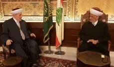 الشعار تمنى على مفتي الجمهورية قبول اعتذاره من مهام إفتاء طرابلس