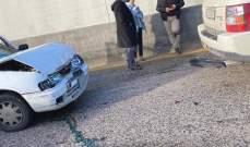 النشرة: تصادم بين 3 سيارات على طريق الفياضية باتجاه بيروت والاضرار مادية