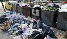 تكدس النفيات بصيدا نتيجة اضراب عمال معمل معالجة النفايات لليوم الثاني على التوالي
