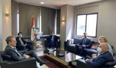 وزني التقى  ممثل المدير العام للمالية الفرنسية