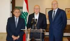 ميقاتي والسنيورة وسلام: من المؤسف أن يصار إلى الالتفاف على الفرصة التي اتيحت للبنان