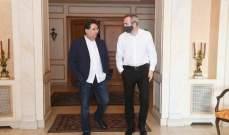 كنعان عرض مع رامبلينغ المساعدات الدولية للبنان والاوضاع المالية والاقتصادية