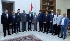 الرئيس عون لوفد نقابة الصرافين:حريص على النظام الاقتصادي الحر في لبنان