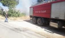 النشرة: إخماد حريق شب باشجار زيتون وسرو واعشاب في رياق الفوقا