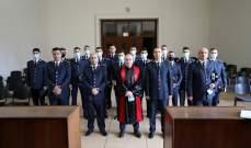 الأمن العام: 13 ضابطا أقسموا اليمين القانونية في قصر العدل