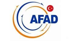آفاد: وقوع 17 هزة ارتدادية عقب الزلزال الذي ضرب ألازيغ بتركيا ولا خسائر