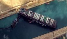هيئة قناة السويس: نستعد للبدء بمناورات جديدة لشد السفينة الجانحة