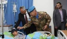 قائد القطاع الغربي لليونيفيل يزور مستشفى تبنين الحكومي