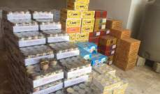 ضابطة صيدا في الجمارك أوقفت بيك آب في العيشية محملا بمواد غذائية مهربة