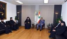 عثمان التقى عثمان المطران الصوري وعرض معه الاوضاع العامة