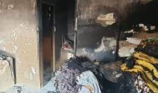 إخماد حريق داخل بؤرة لتجميع أقفاص البلاستيك ومستودع صغير ومنزل في الأوزاعي
