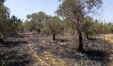 عناصر الدفاع المدني أخمدوا حريقا في بلدة كفرحزير