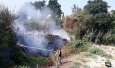 حريق كبير في السكسكية وسيارات الدفاع المدني تعمل على اخماده