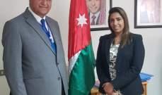 الخطيب التقى القائمة بالاعمال الأردنية وشكرها على المساعدات التي قدمتها الأردن للبنان