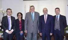 خلف استقبل كوبيتش وسفراء وجهات ومنظمات دولية: لدعم قطاع العدالة في لبنان