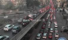 التحكم المروري للنشرة: حركة سير كثيفة على جميع مداخل بيروت