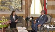المشنوق استقبل سفراء أميركا ومصر وقطر وممثلة الأمم المتحدة في لبنان
