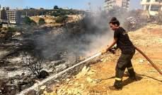 الدفاع المدني اخمد حريقا في طبرجا كسروان