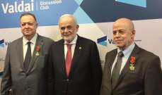 مستشار عون قلّد رئيس معهد الاستشراق الروسي ونائبه وسامين رئاسيين