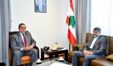 حب الله بحث مع السفير الايراني في تطوير التعاون بين البلدين