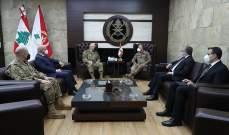 """قائد الجيش اللبناني تداول مع قائد قوات """"اليونيفيل"""" في علاقات التعاون"""