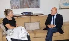 سلام بحث مع المنسقة الخاصة للأمم المتحدة في لبنان الاوضاع الراهنة
