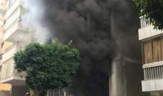 اندلاع حريق كبير في منطقة الملا وفوج اطفاء بيروت يعمل على مكافحته