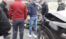النشرة: جريح في حادث سير على طريق عام مرج الزهور الحاصباني