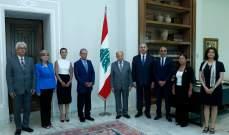 الهيئة الوطنية للمفقودين قسرا أقسموا اليمين أمام الرئيس عون
