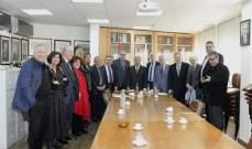 وفد من مجلس نقابة الصحافة زار نقابة محرري الصحافة اللبنانية لتهنئة المجلس المنتخب