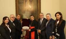 اللجنة الرئاسية العليا لشؤون الكنائس في فلسطين التقت البطريرك الراعي