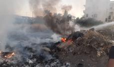 النشرة: اخماد حريق نفايات مقابل البركة الاسنة على الطريق البحري في صيدا