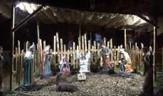 إضاءة مغارة الميلاد وزينة العيد في جدّايل