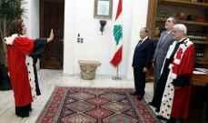 الرئيس عون اثناء تأدية دلول وعطية اليمين: الاولوية لمكافحة الفساد