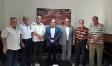 البزري استقبل وفد حركة الانتفاضة الفلسطينية